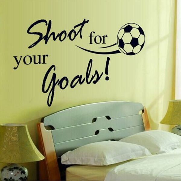 Buy High Quality 80 60cm Shoot For Your Goals Kids Room Wall