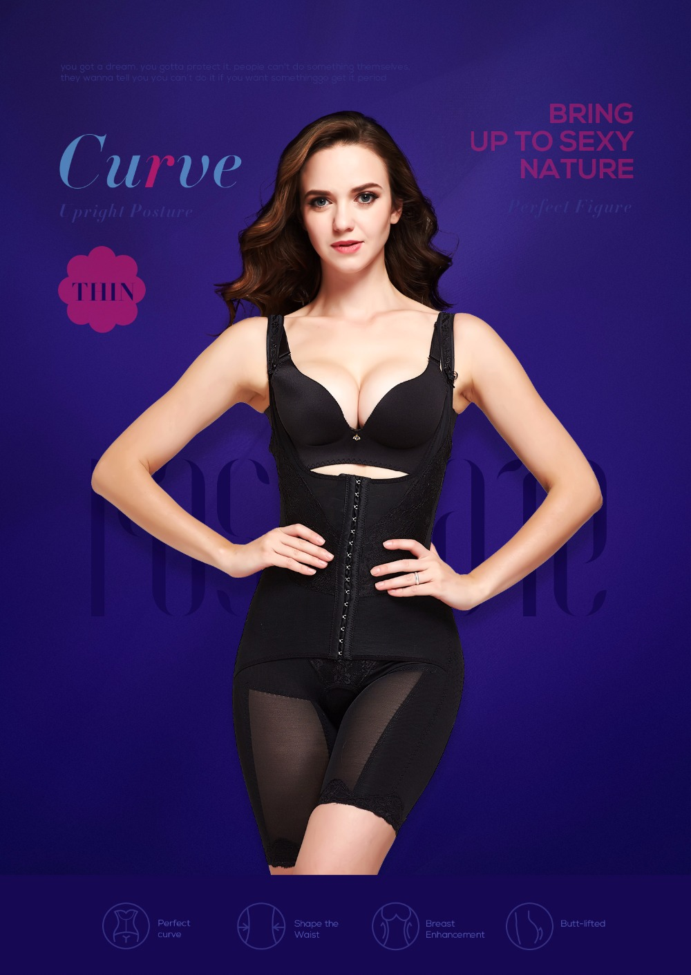Rio-up 20 shapewear pantyhose with slimming and lift girdle