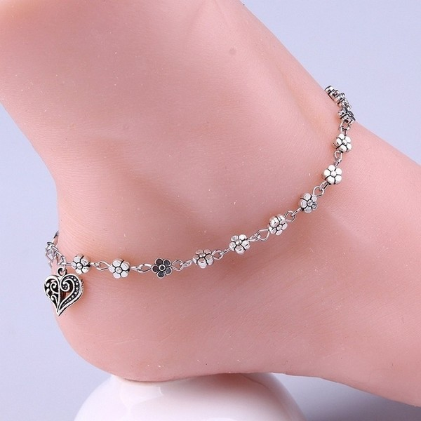 Women Chain Anklet Ankle Bracelet Barefoot Sandal Beach Foot Silver Plated New