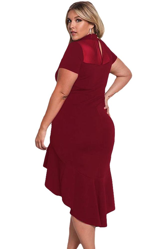 4a6583813945 Buy Gosopin Summer Dress XXXL Ruffled Work Office Dress Plus Size ...