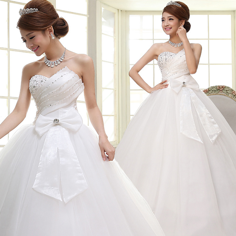 df6e5a3d222 Buy Lace single shoulder flower sweet princess slanted bride wedding ...