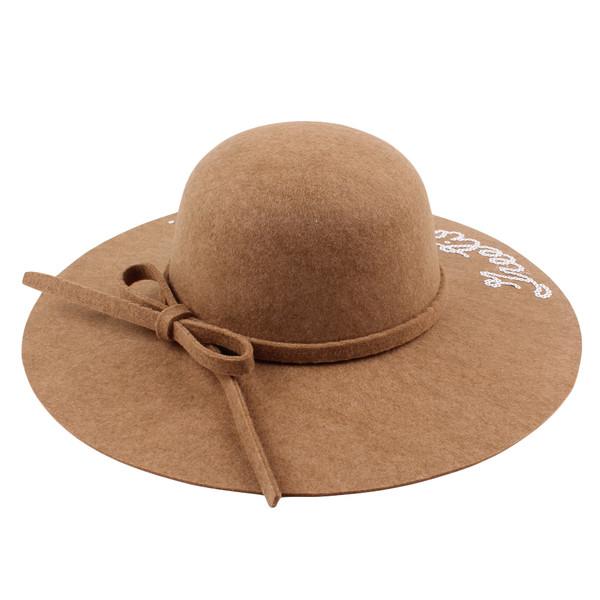 602444802e84d Women Wide Brim Fedora Hat Sequin Letter Cap Sun Hat Solid Sunbonnet Trilby Beach  Panama Hat