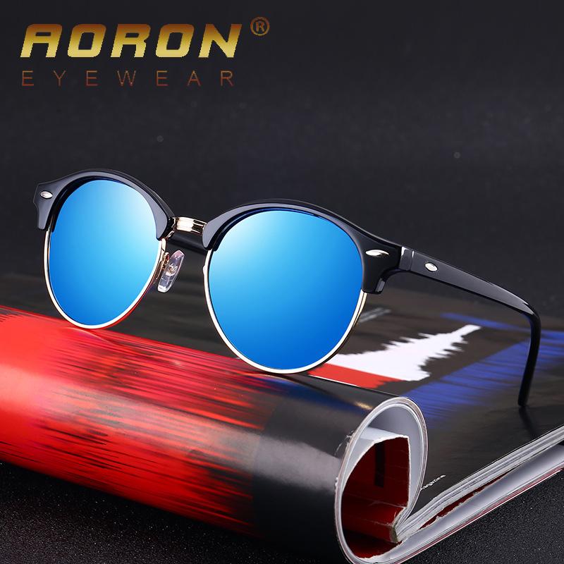 0c6f30eafe AORON Round Polarized Sunglasses Women Brand Designer 2018 Luxury Vintage Sun  Glasses Men mirror UV400 Shades oculos de sol