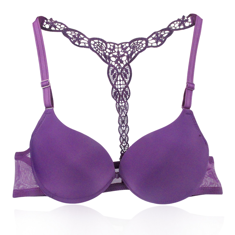 ab7af5ab27 Buy Womens Sexy Front Closure Lace Racer Back Push Up Seamless ...